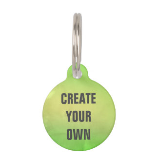 Create Your Own Modern Green Watercolor Painting Pet ID Tag
