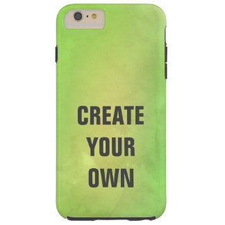 Create Your Own Modern Green Watercolor Painting Tough iPhone 6 Plus Case