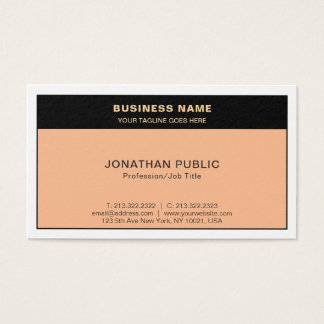 Create Your Own Modern Stylish Colors Chic Plain Business Card