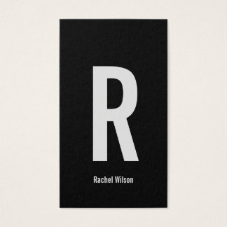 Create Your Own Monogram Black Business Card