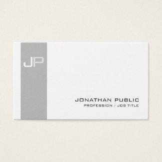 Create Your Own Monogram Elegant Modern Business Card