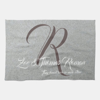 Create your own monogram kitchen towel