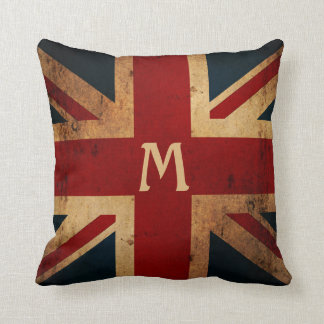 Create Your Own Monogram Union Jack Throw Pillow