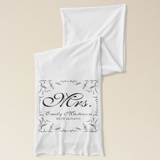 Create Your Own Mr Mrs His Hers Wedding Monogram Scarf