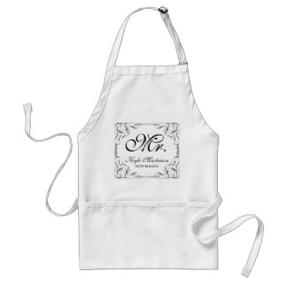 Create Your Own Mr Mrs His Hers Wedding Monogram Standard Apron