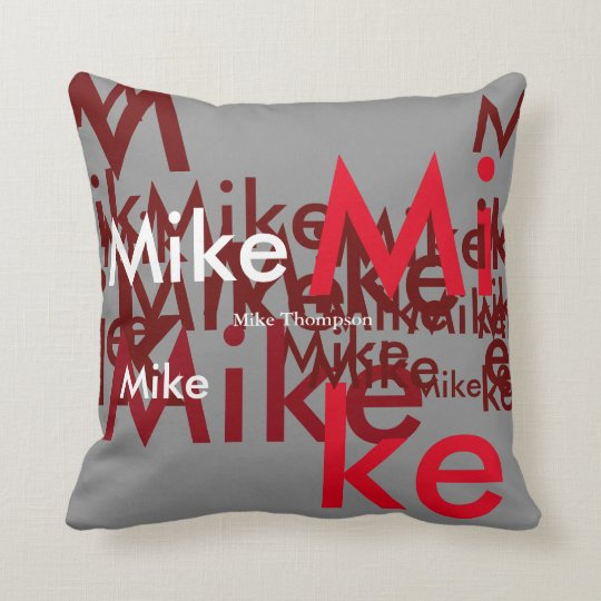 create your own name customized throw pillow