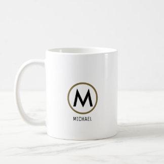create your own name monogram white coffee mug
