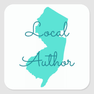 Create Your Own New Jersey Local Author Square Sticker