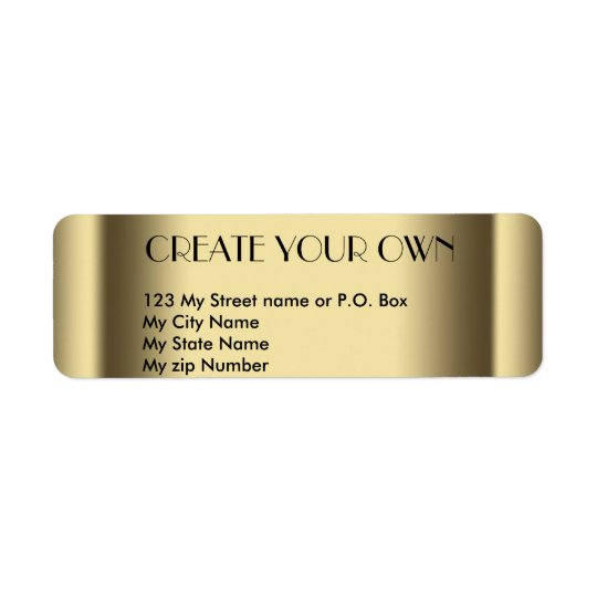 Create Your Own old gold return address Label,