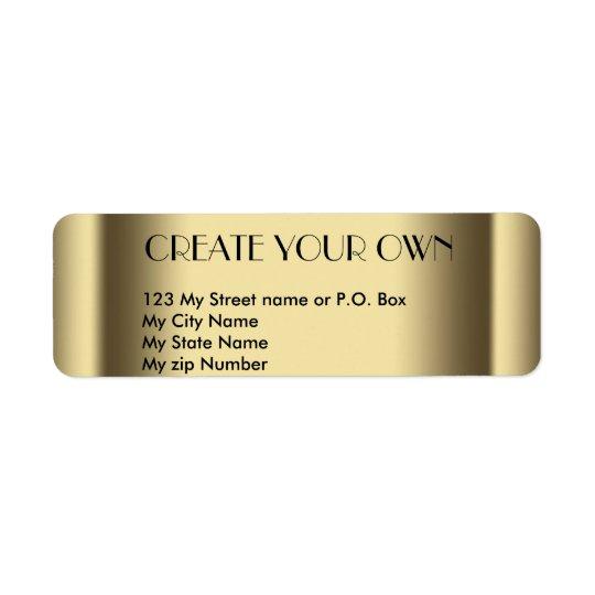 Create Your Own old gold return address Label, Return Address Label