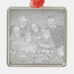 Create Your Own One-Sided Square Photo Keepsake Christmas Ornaments