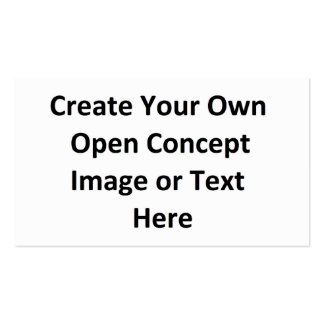 Create Your Own Open Concept Image or Text Here Business Card Template