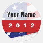 Create Your Own Patriotic Political Merchandise Round Sticker