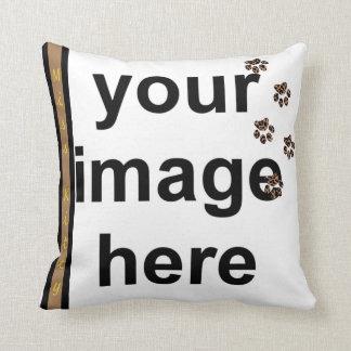 Create Your Own Paw Prints Custom Photo Pet Throw Pillow