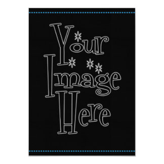 """CREATE YOUR OWN - PERSONALIZE THIS 4.5"""" X 6.25"""" INVITATION CARD"""