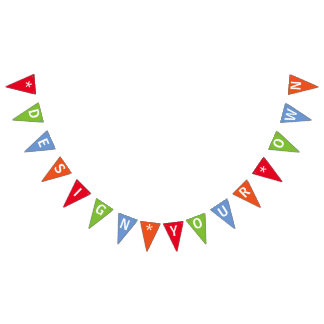 Create Your Own Personalized Custom Bunting Flags