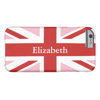 Create Your Own Personalized Red Union Jack Barely There iPhone 6 Case