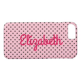 Create Your Own Personalized Tiny Black Polka Dot Case-Mate iPhone Case