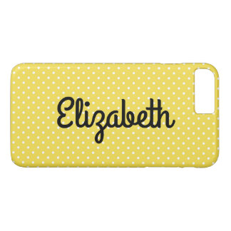 Create Your Own Personalized Tiny White Polka Dot Case-Mate iPhone Case