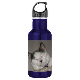 Create Your Own Pet Keepsake-Cat Nap 532 Ml Water Bottle