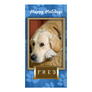 Create your own pet photo holiday card custom photo card