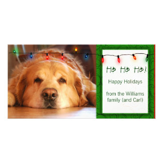 Create your own pet photo holiday card picture card