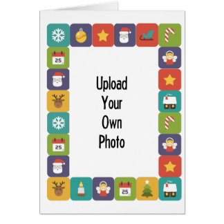 Create Your Own Photo Card Bright Christmas Border