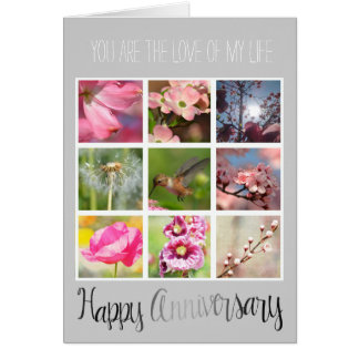 Create Your Own Photo Collage Anniversary Card
