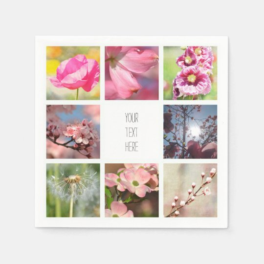 Create Your Own Photo Collage Disposable Napkin