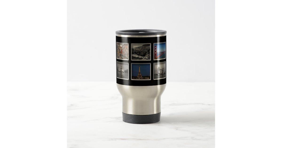 Create Your Own Photo Collage Travel Mug Zazzle