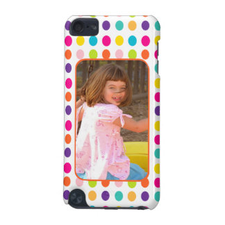Create Your Own Photo Colorful Dots Custom iPod Touch 5G Cover
