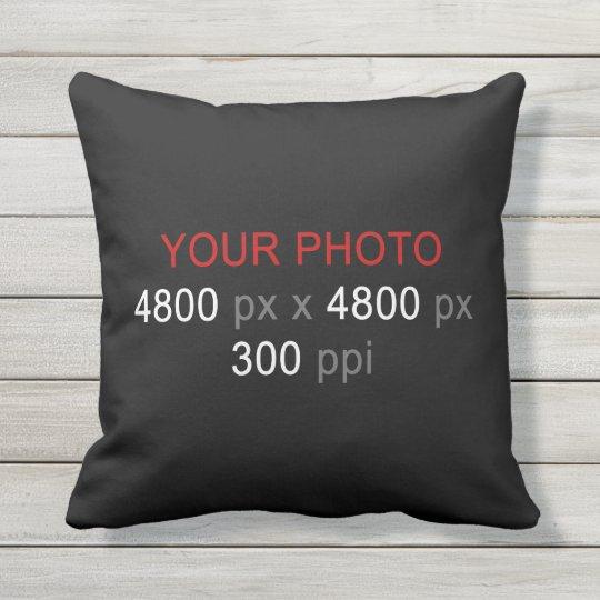 Create Your Own Photo Custom 16 Inch Throw Pillow
