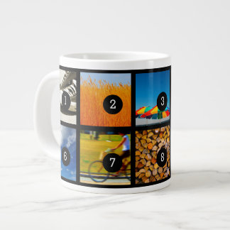 Create Your Own Photo Instagram with 10 images! Large Coffee Mug