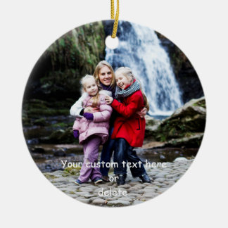 Create-Your-Own-Photo | Round Ceramic Ornament