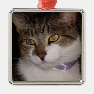 Create your own photo Square ornament template