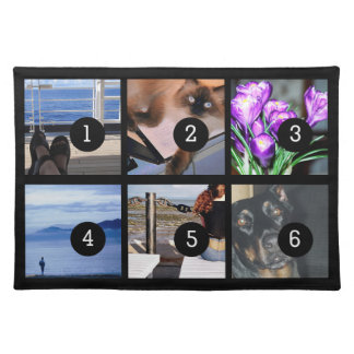 Create Your Own Photo Style with 6 images Placemats