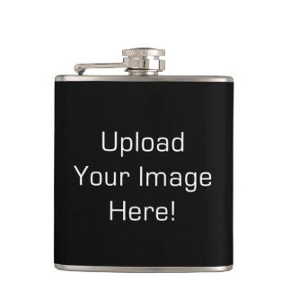 Create-Your-Own Photo Upload Stainless Steel Flask