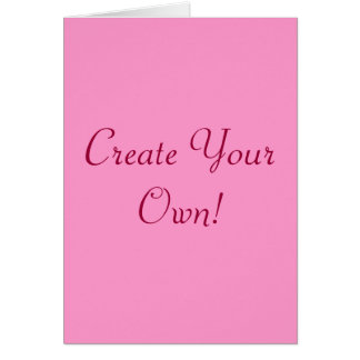 Create Your Own Pink And White I Cards