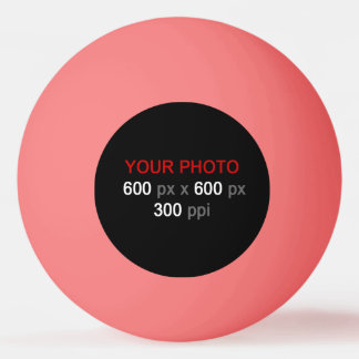 Create Your Own Pink Ping Pong Ball