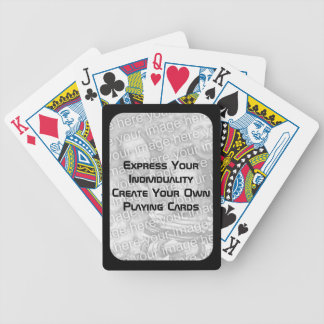 Create Your Own Playing Cards - Photo Dark Border