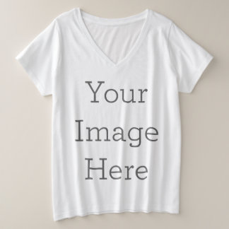 Create Your Own Plus Size V-Neck T-Shirt