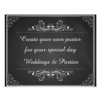 Create your own poster for your wedding or party