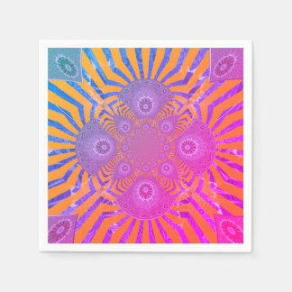 Create Your Own pretty cute rainbow lovely party Disposable Napkin