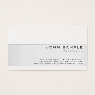 Create Your Own Professional Modern Stylish Matte Business Card