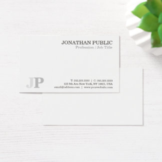 Create Your Own Professional Monogram Chic Business Card