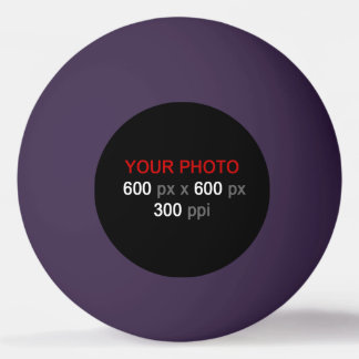 Create Your Own Purple Ping Pong Ball
