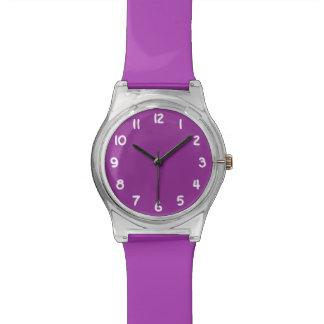 Create Your Own Purple Wrist Watch