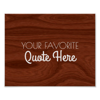 Create Your Own Quote Sign | Elegant Wood Look