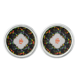 Create Your Own Rainbow Paisley Cuff Links