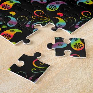 Create Your Own Rainbow Paisley Jigsaw Puzzle